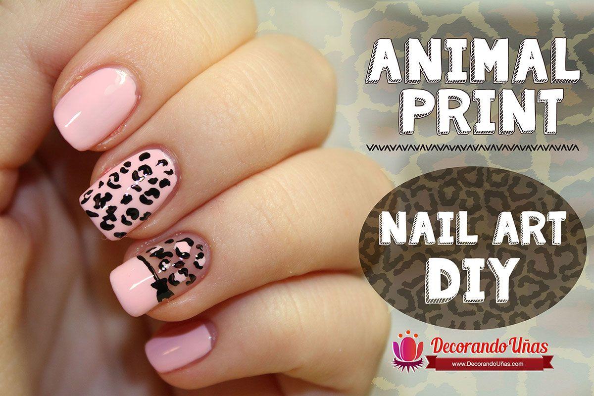 Animal print \u2013 Nail art DIY \u2013 Tutorial paso a paso