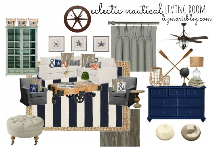 eclectic nautical living room - | for the home | pinterest