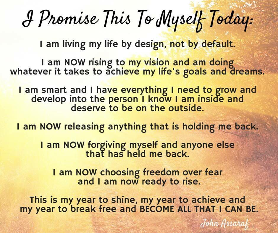Promise to myself
