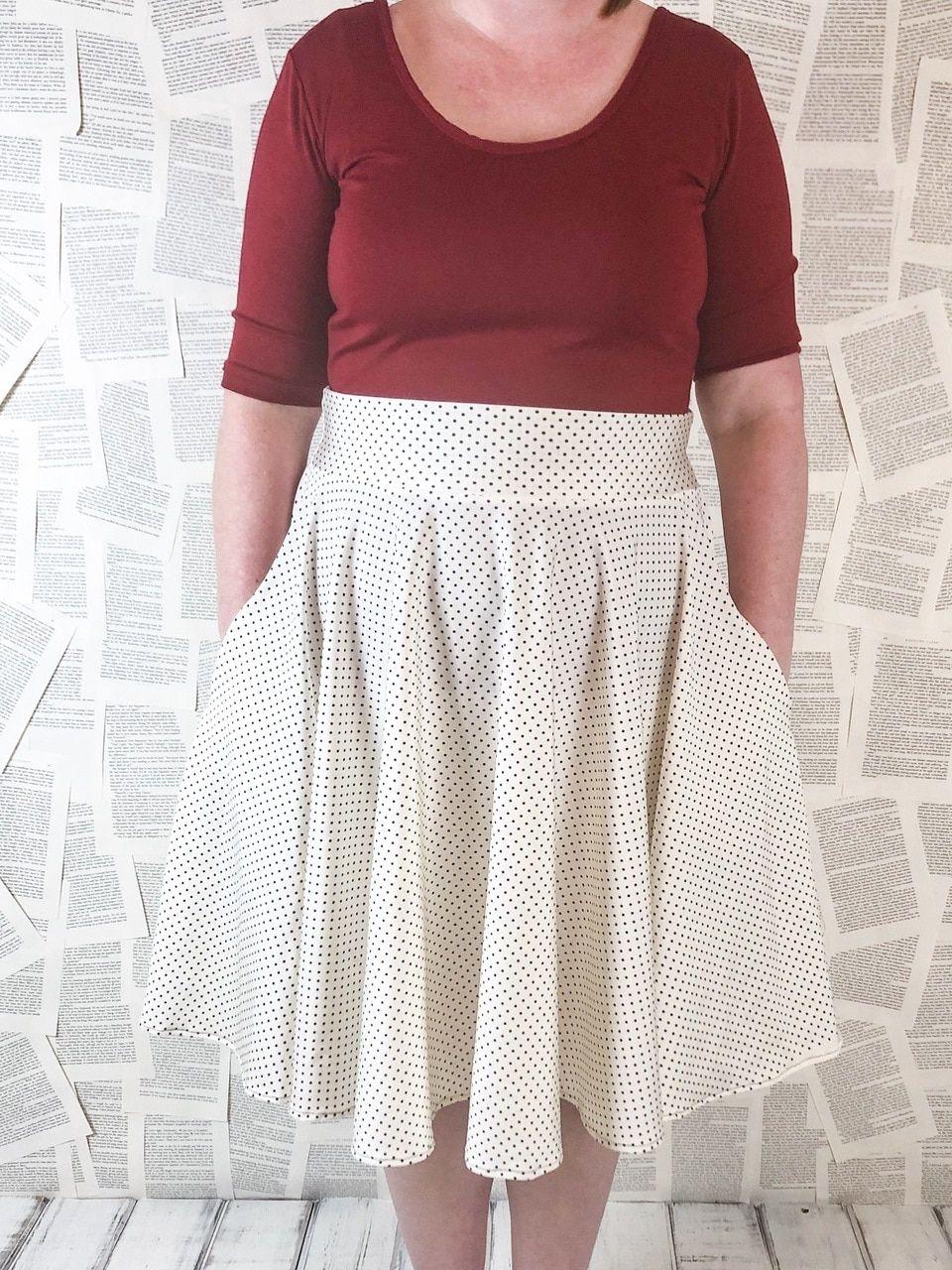 Duchess's Knit Circle Skirt Sizes XXS to 3X Adults PDF ...