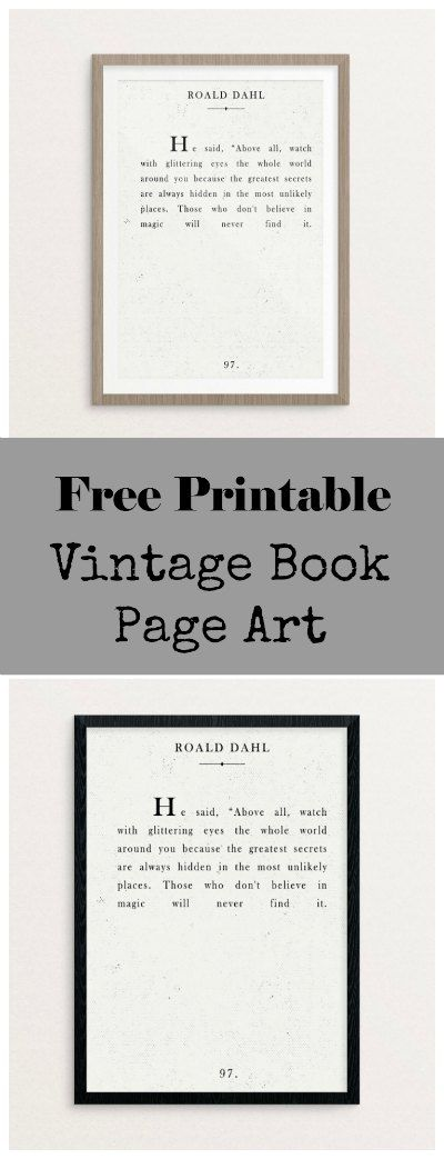 Custom Canvas Artwork – Free Book Page Printable | Picture/Canvas ...