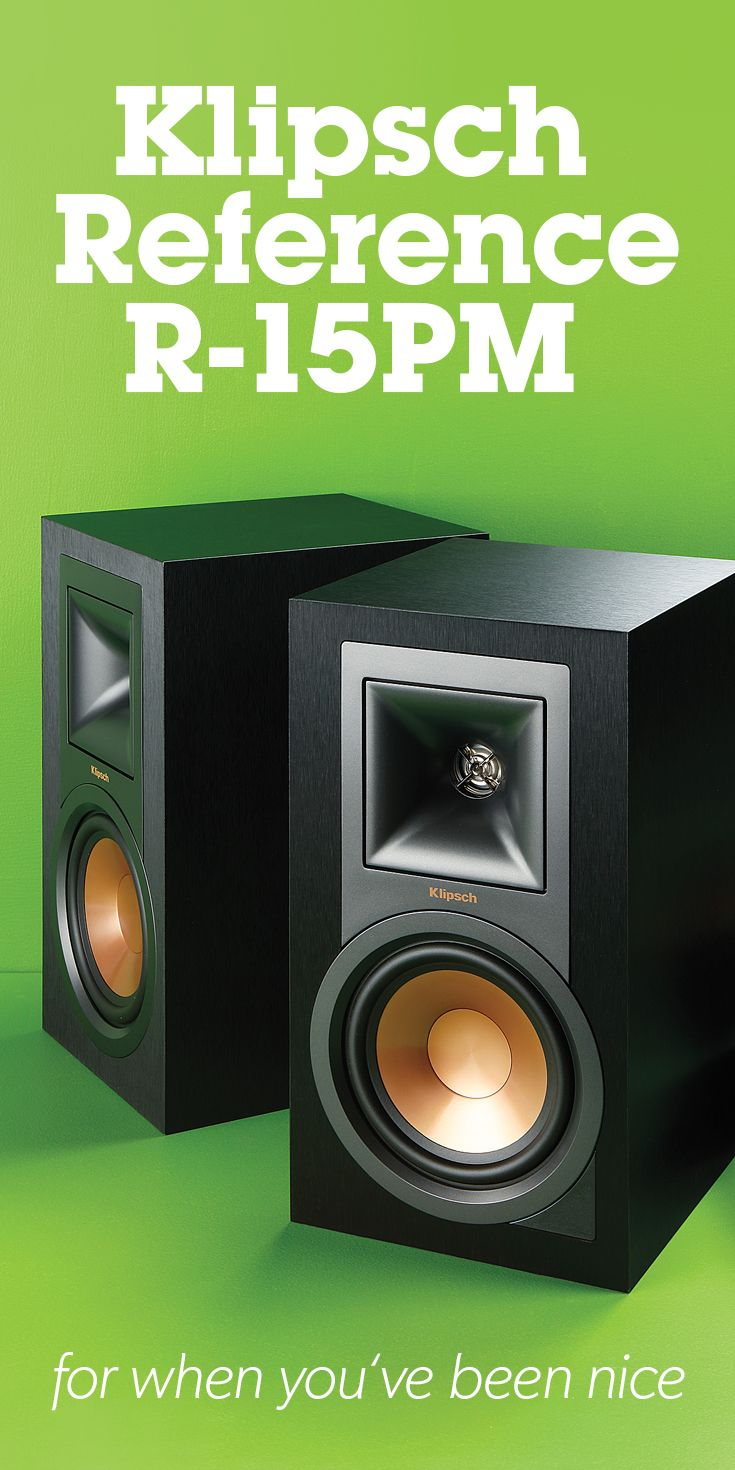 Klipsch Reference R15PM Powered bookshelf speakers with