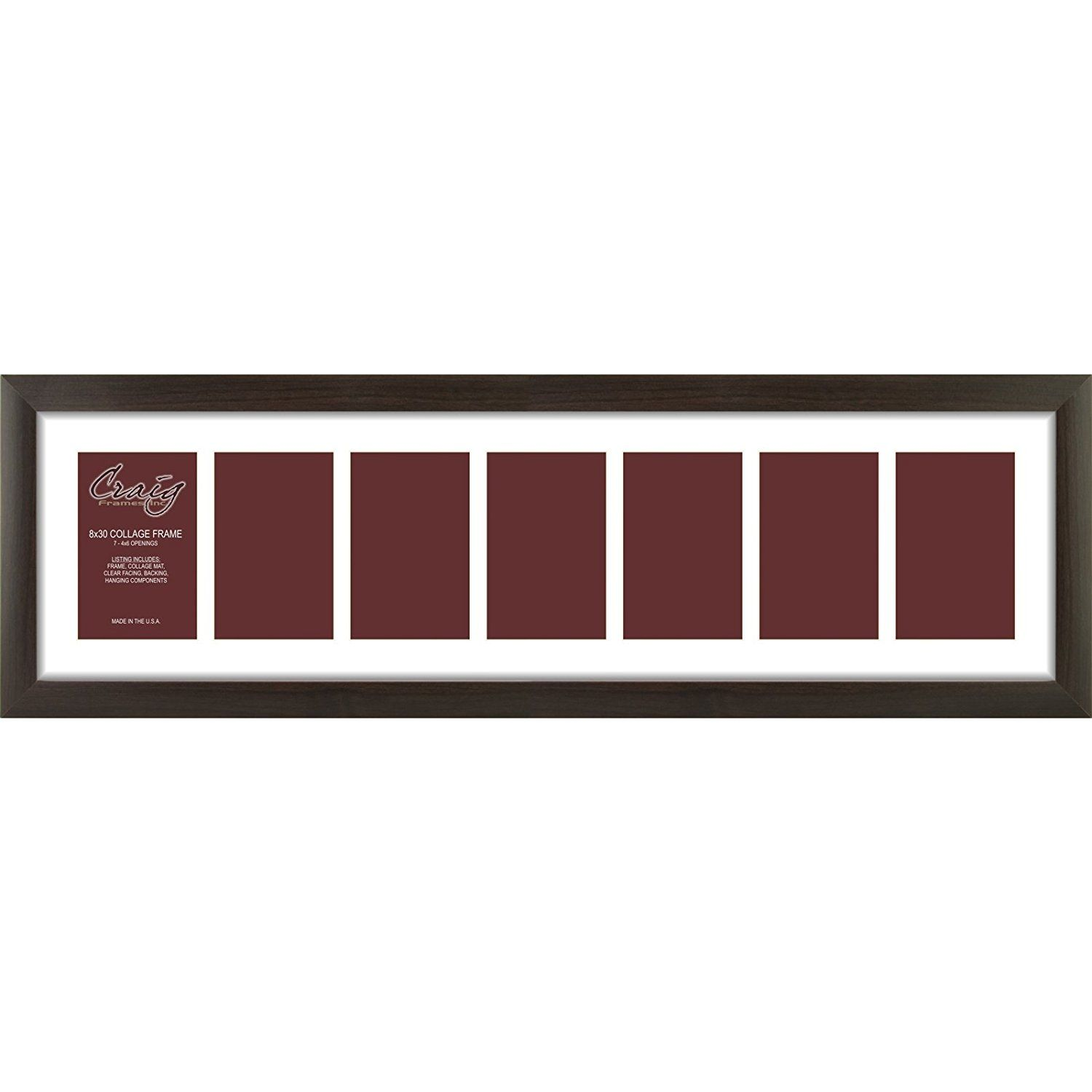 Craig Frames 23247778 8 by 30-Inch Brazilian Walnut Picture Frame ...