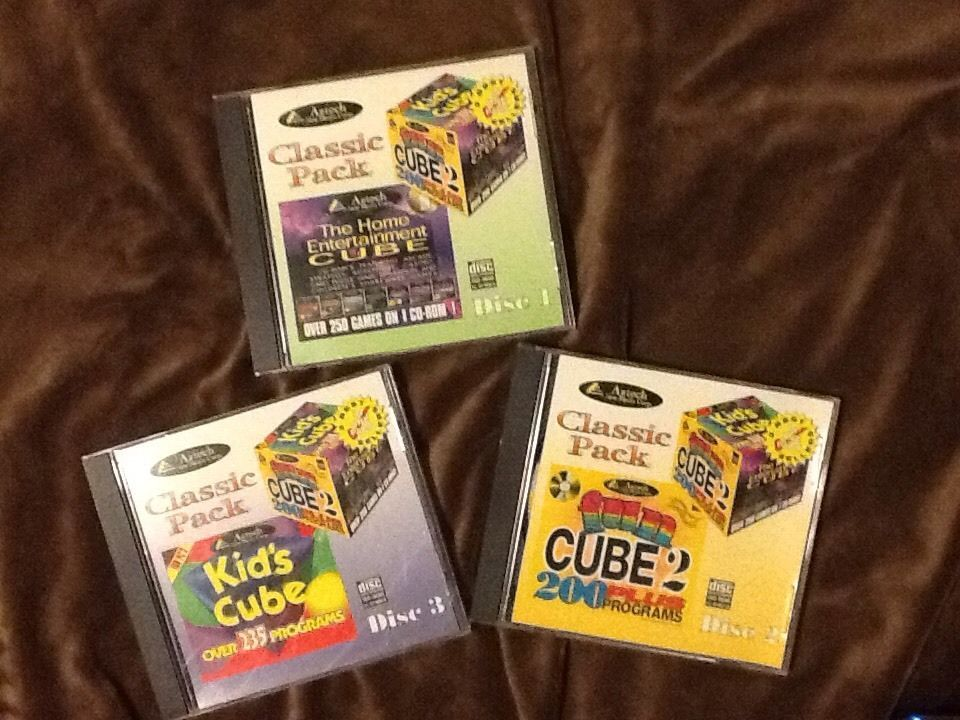 Aztech Classic Pack Fun Cube Home Entertainment Kids Windows 3.1 95 Software Lot