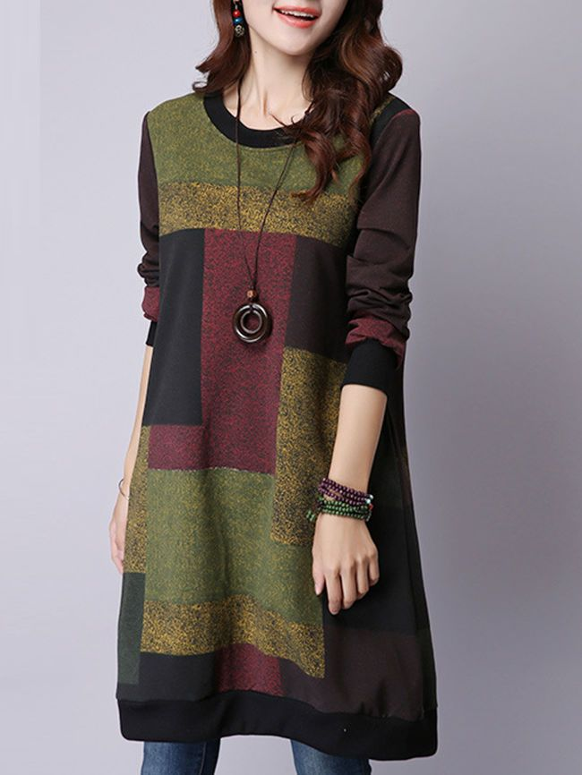 Geometric Thick Tweed Shift Dress Berrylook Com Clothes