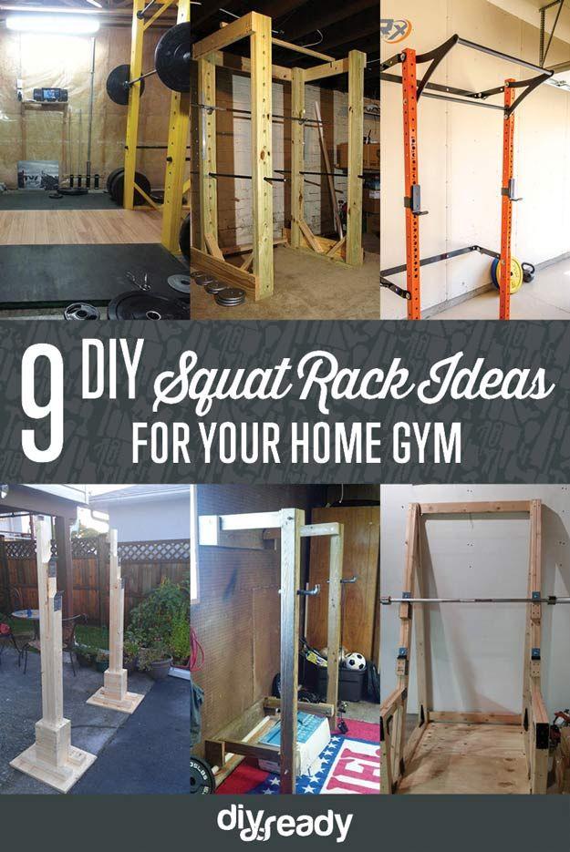 Squat Rack Ideas | Muskel, DIY und Selbermachen und Sport