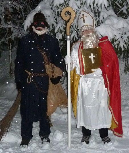 Sankt Nikolaus mit Knecht Ruprecht, ook hier zien we de ...