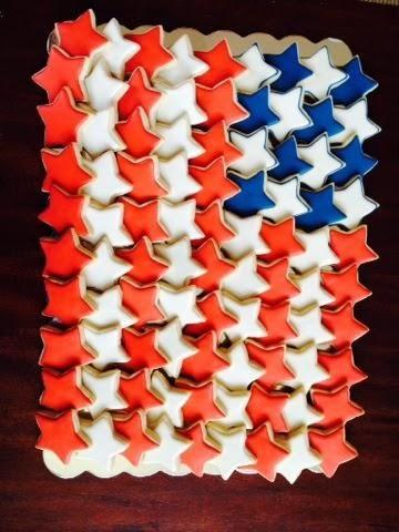22104124903c American Flag Cookie Platter