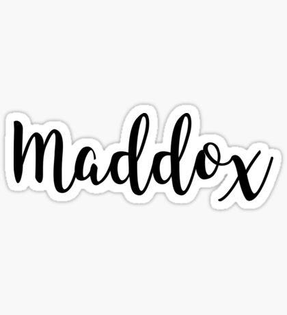 Maddox Boy Baby Name Sticker Popular Boy Names Baby Girl Names Country Baby Boy Names