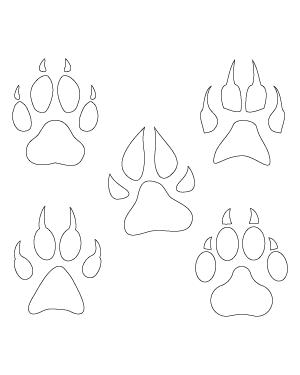 Pin On Svg Files Lion paw print tattoo designs. pinterest