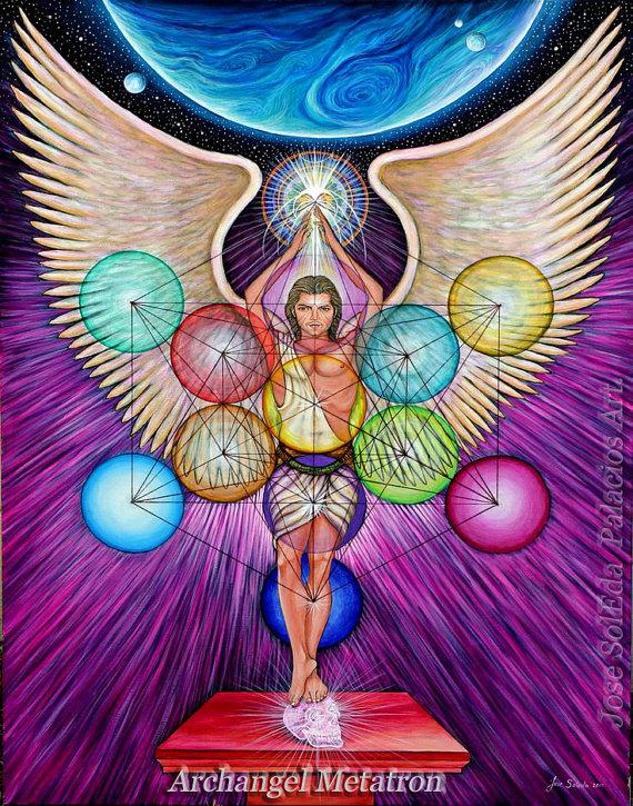 Archangel Metatron 11x14 Print By Jose Soleda Archangel Metatron Archangels Metatron Angel Cubo de metatron wallpaper hd