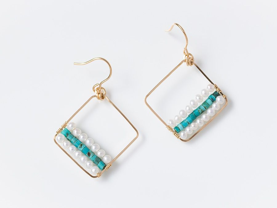 Pin by nipajo on Earrings   Pinterest   Beads, Wire wrapping and ...