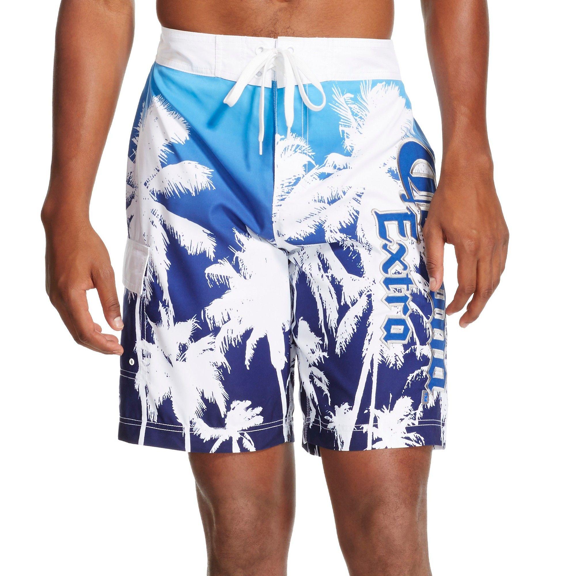 355ffdf0e8 Men's Corona Palm Tree Swim Trunks - Blue Xxl | Products | Swim ...
