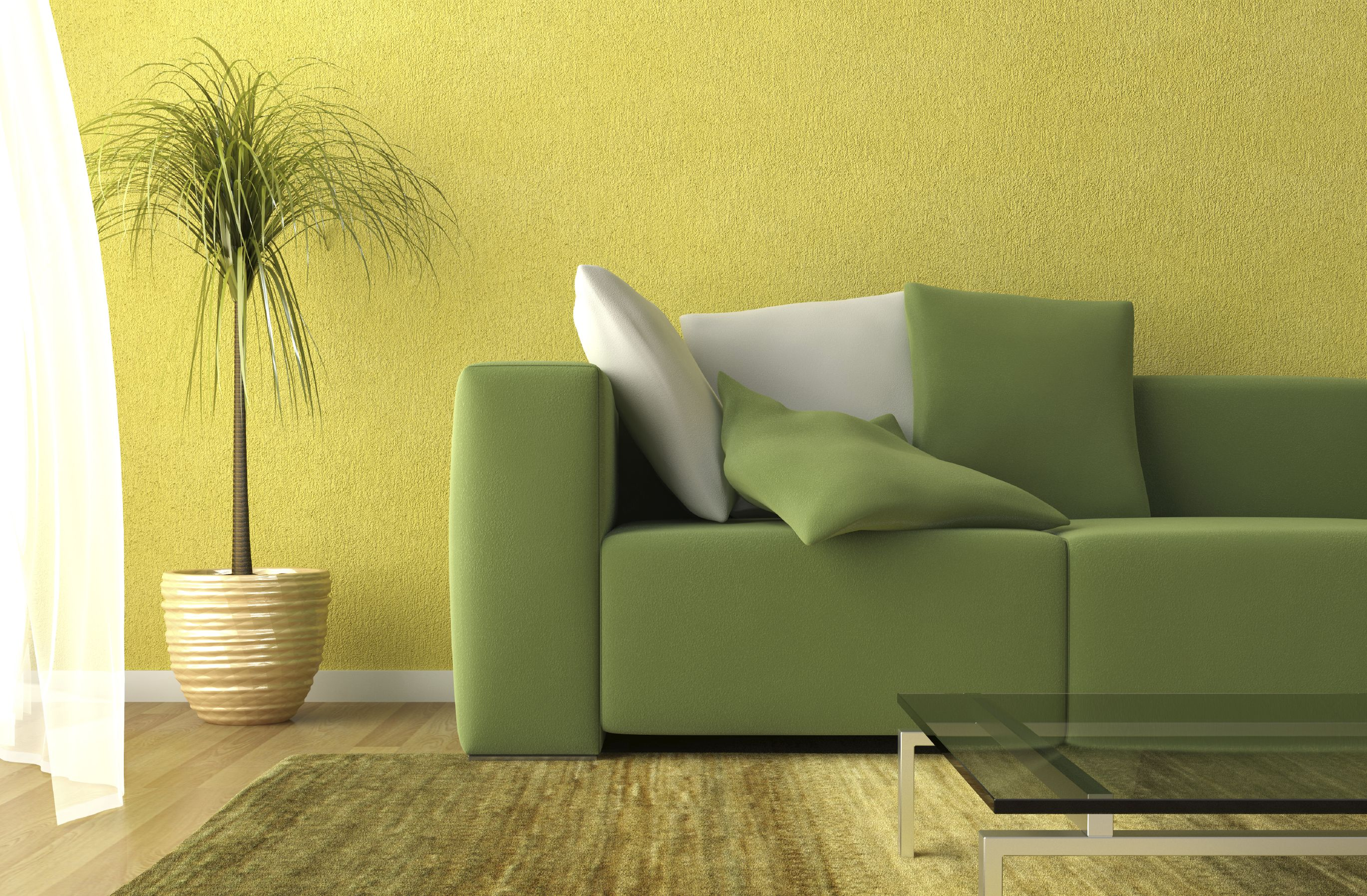 technically this wall color is a shade of yellow but the green