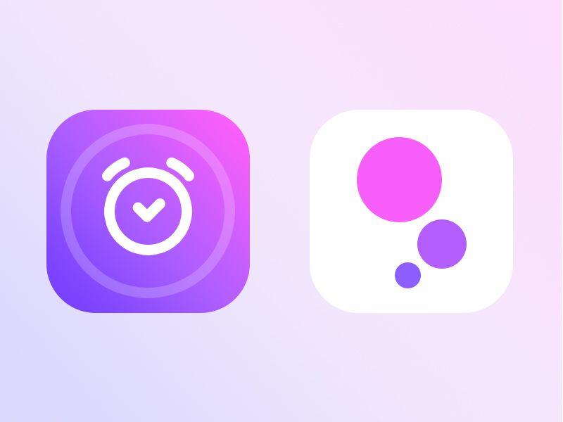 Alarm + Bubble app icon (unused 2016 app icons) App icon