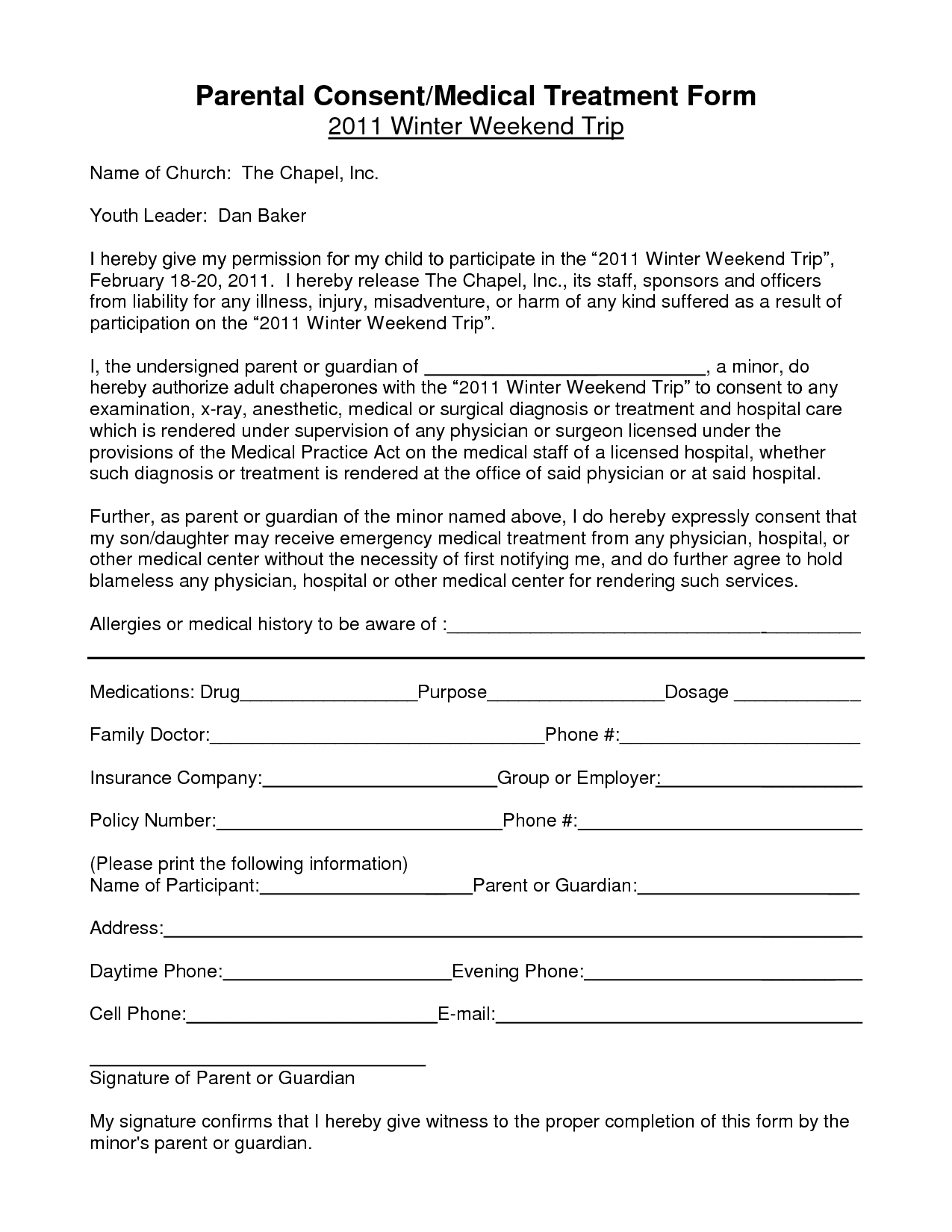 Parental consent form template child medical consent form templates 6 samples for word spiritdancerdesigns Choice Image