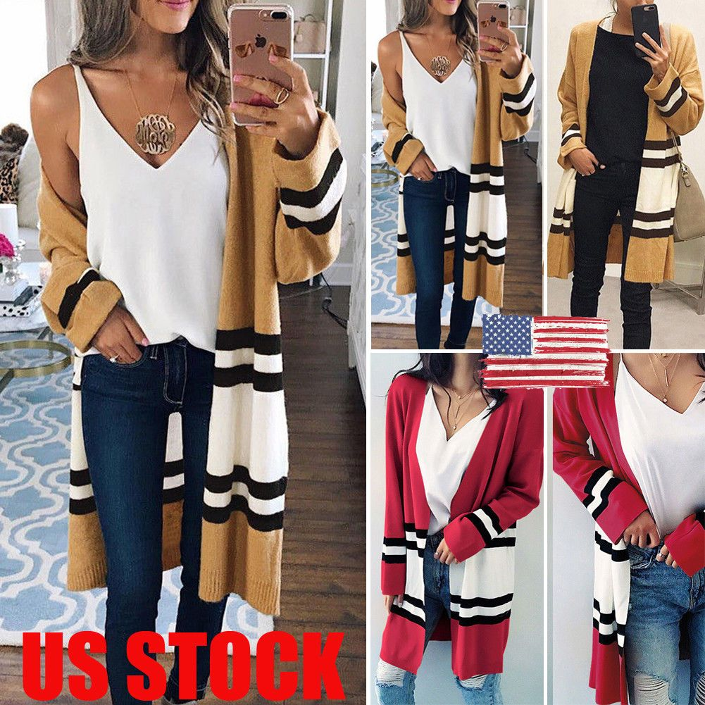 Flannel cardigan womens  Women Winter Baggy Cardigan Coat Long Chunky Knitted Oversized