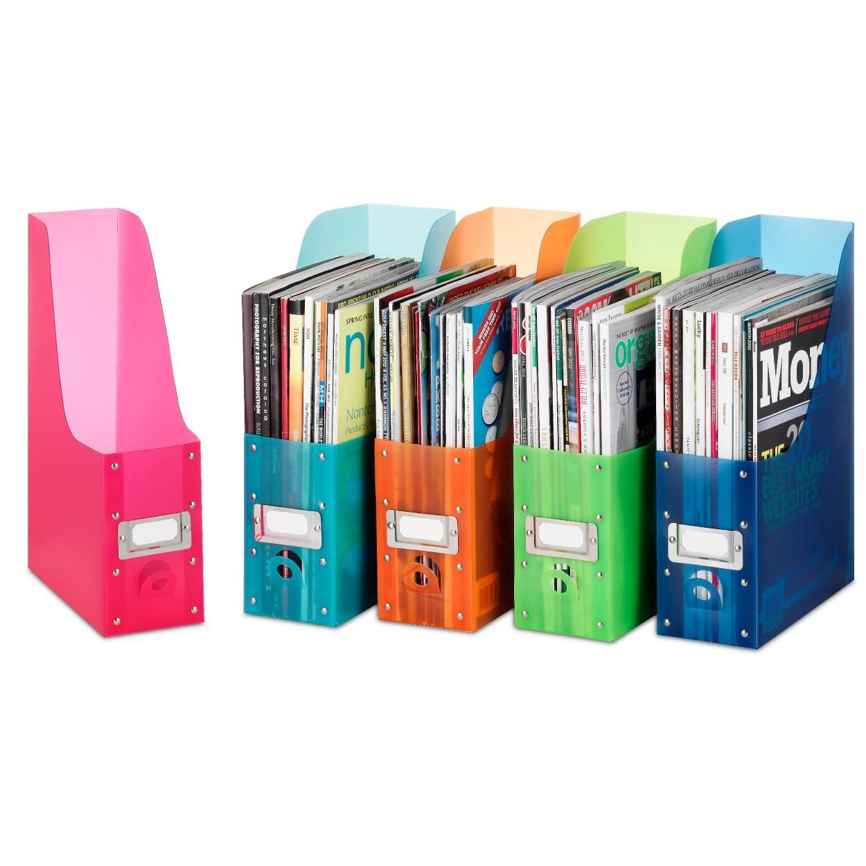 Office Organization Magazine File Rack Holder Book Bins School