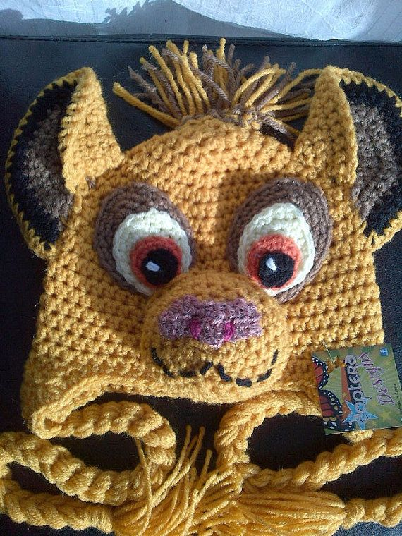 0e37f3b4ac40d0 Crochet Lion Hat Inspired by the character Simba by DopteraDesigns, $36.00