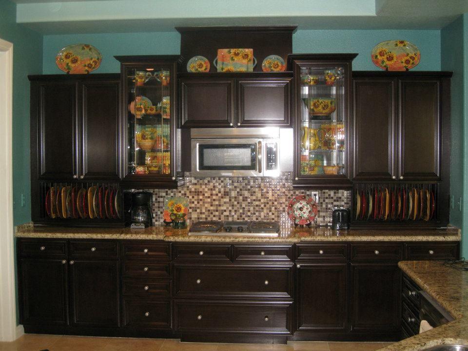 Dark Finish on Wall Cabinet. | Wall cabinet, Kitchen ...