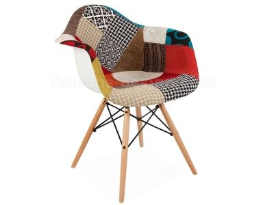 patchwork eames style daw dining chair modern contemporary design hotel bar in home furniture diy furniture chairs - Chaise Patchwork Eames