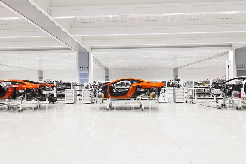 Inside Look At Mclaren Automotive S Production Center In Woking Uk Mclaren Automotive Design Car Workshop