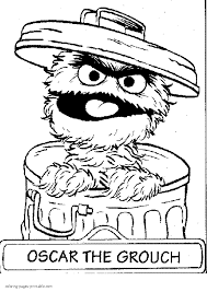 Image Result For Oscar The Grouch Coloring Pages Sesame