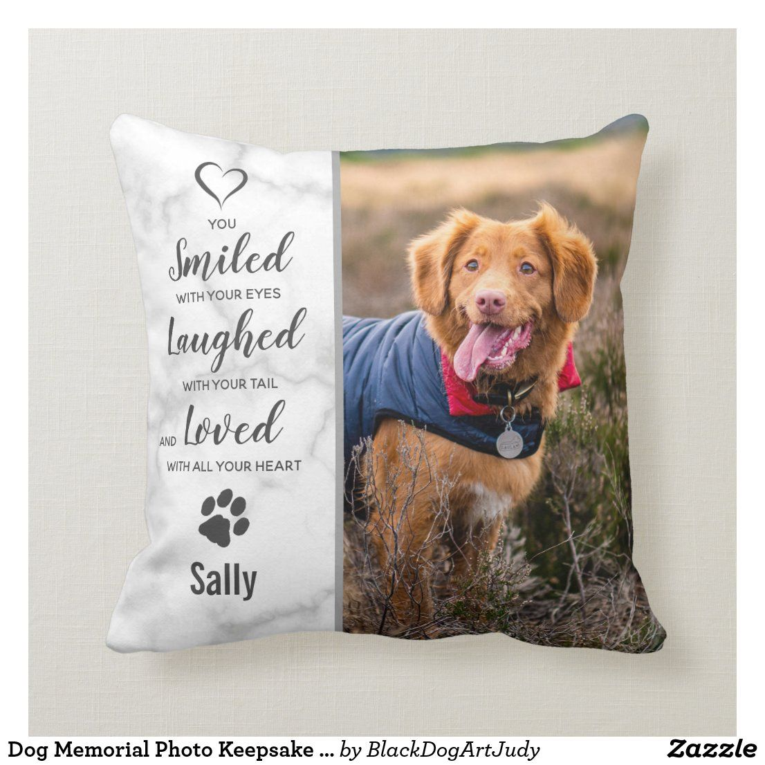 Dog memorial photo keepsake sympathy pet loss throw