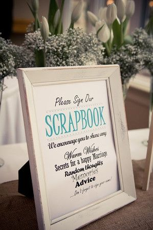 Image Result For Scrapbook Wedding Sign In