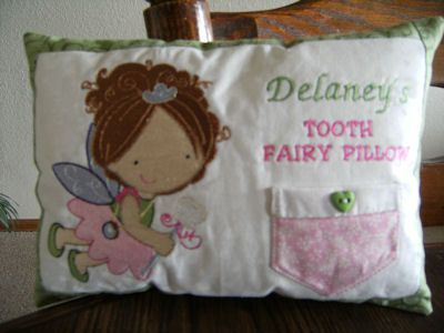 Tooth Fairy Pillow Applique Design: Embroidery   Free Machine Embroidery Designs   Bunnycup Embroidery    ,