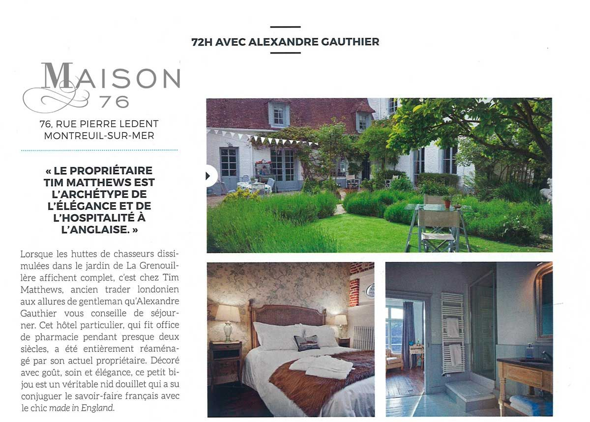 Chambre D Hote 76 Maison 76 Bed And Breakfast Montreuil A Stylish Welcoming B B