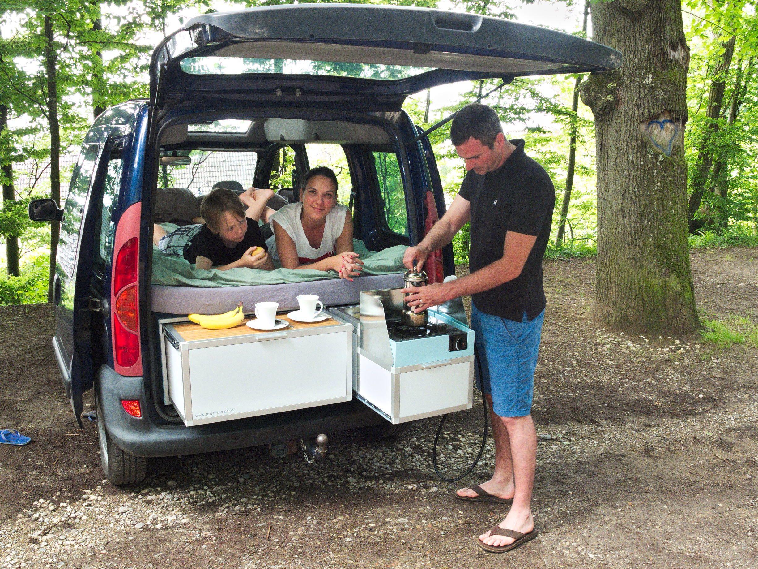 smart camper camping module f r minivans und. Black Bedroom Furniture Sets. Home Design Ideas