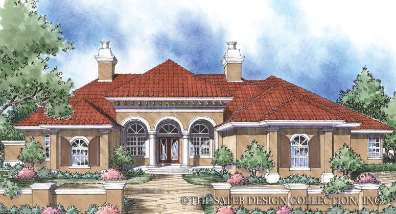 The Sater Design Collection 39 S Luxury Italian Home Plan