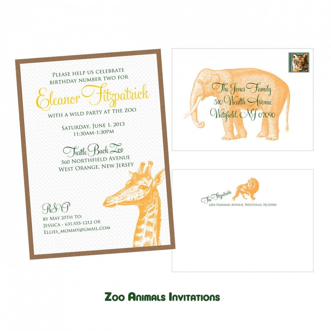 lani blue stationery  zoo animals invitation 250 http