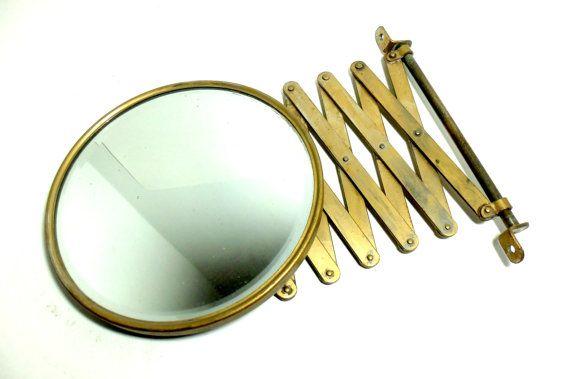 Mirror, Beveled Shaving Accordion Mirror, Wall Mount