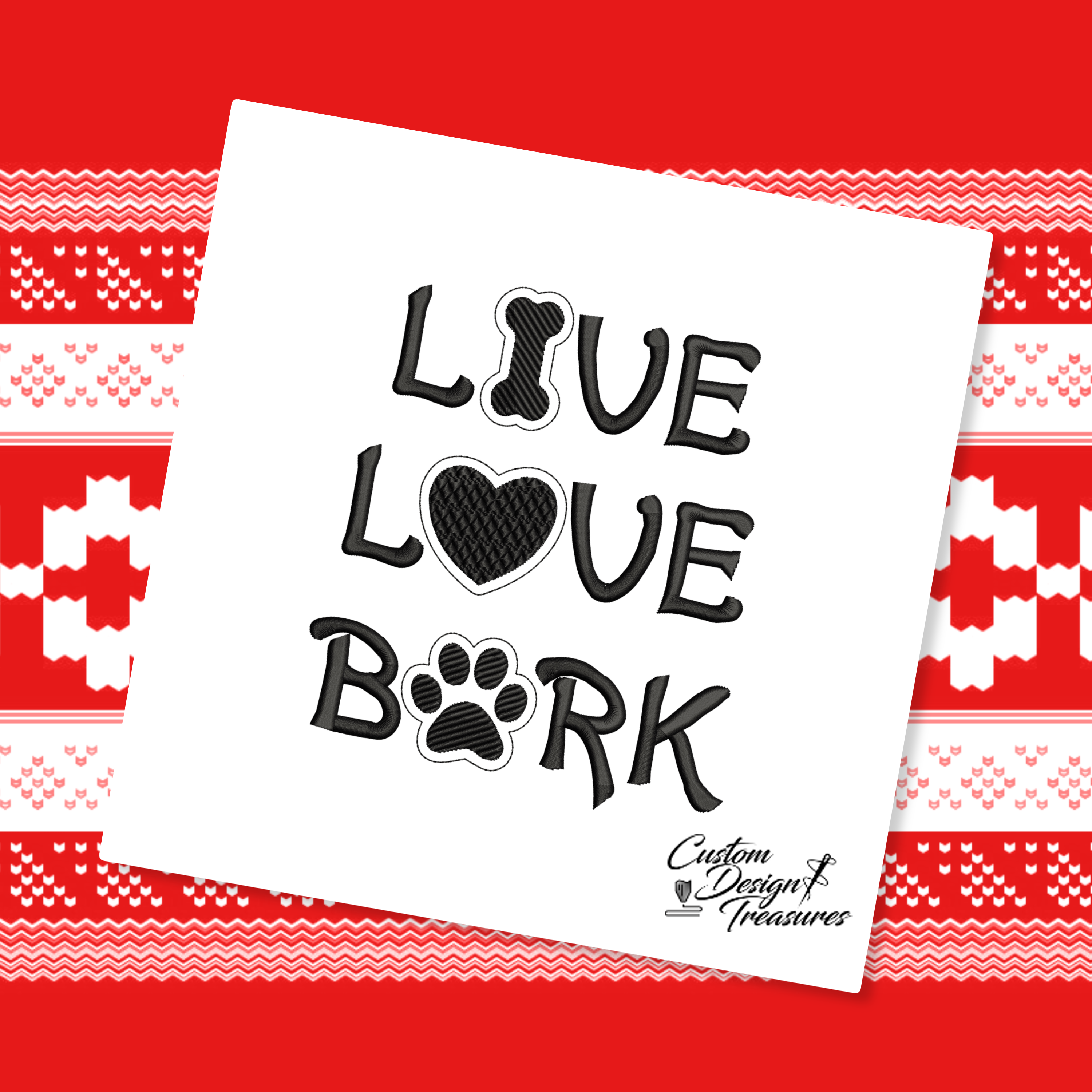 Download Live Love Bark - Machine Embroidery Design   Embroidery ...