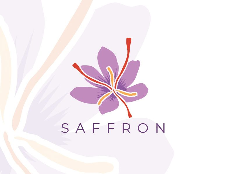 Saffron Flower Logo | Saffron flower, Flower logo, Flower ...