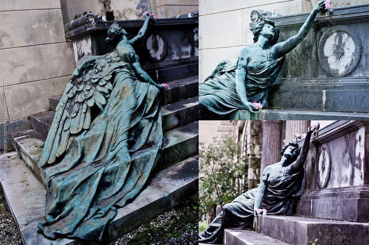 Adolfo Apolloni 1904 Calcagno family burial monument at the Staglieno Cemetry, Genoa, Italy