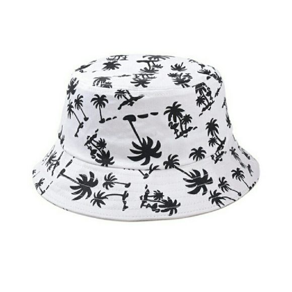 671fe422805e7 Bucket hat This is a black, and white bucket hat. With Flamingo and ...