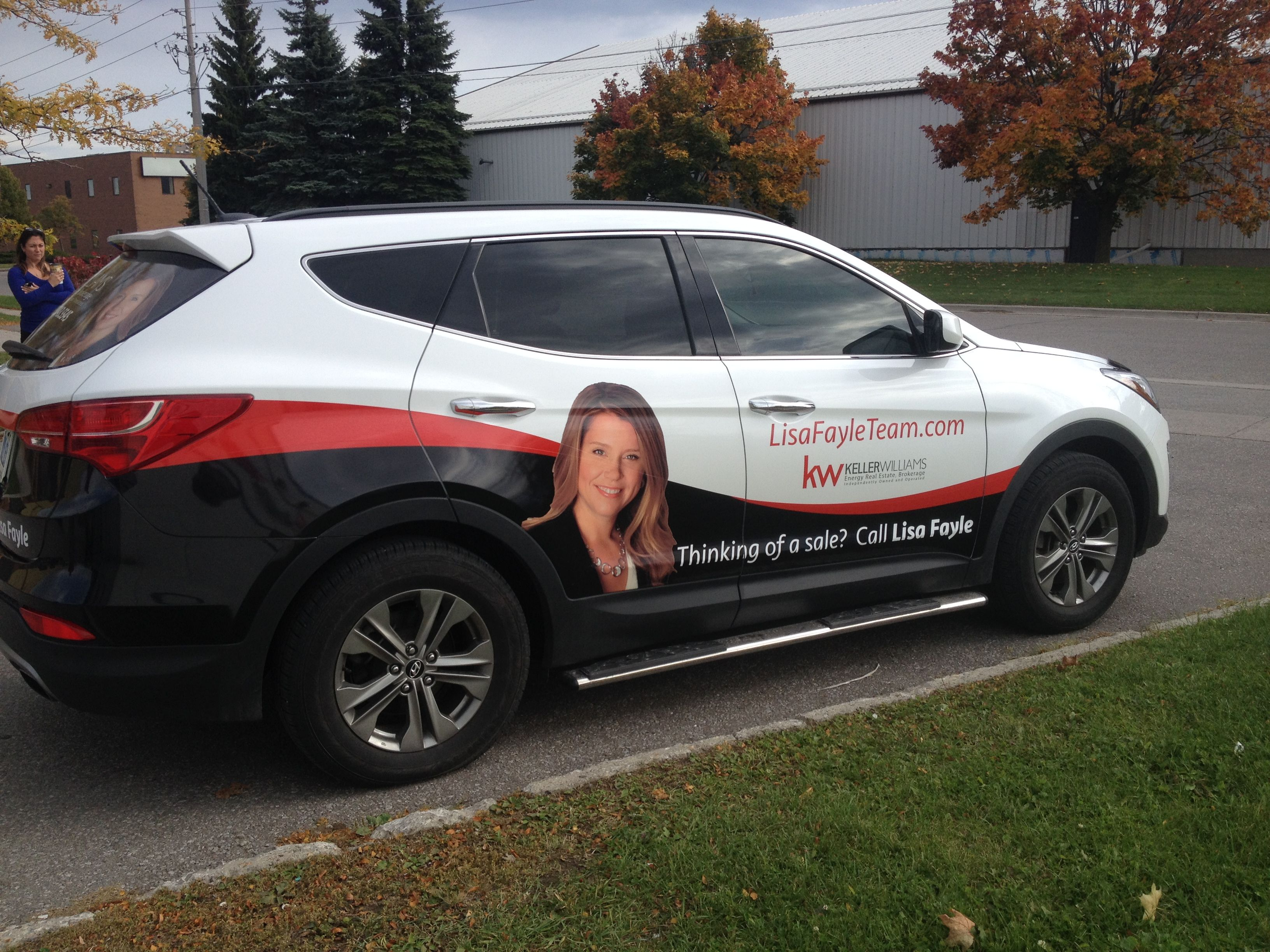 Partial Wrap And Digital Print Perforated Vinyl Rear Window Graphics Completed For The Lisa Fayle Team Lovin The Colou Car Wrap Window Graphics Car Graphics [ 2448 x 3264 Pixel ]