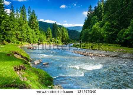 Landscape With Mountains Trees And A River In Front Nature Photography Landscape Nature