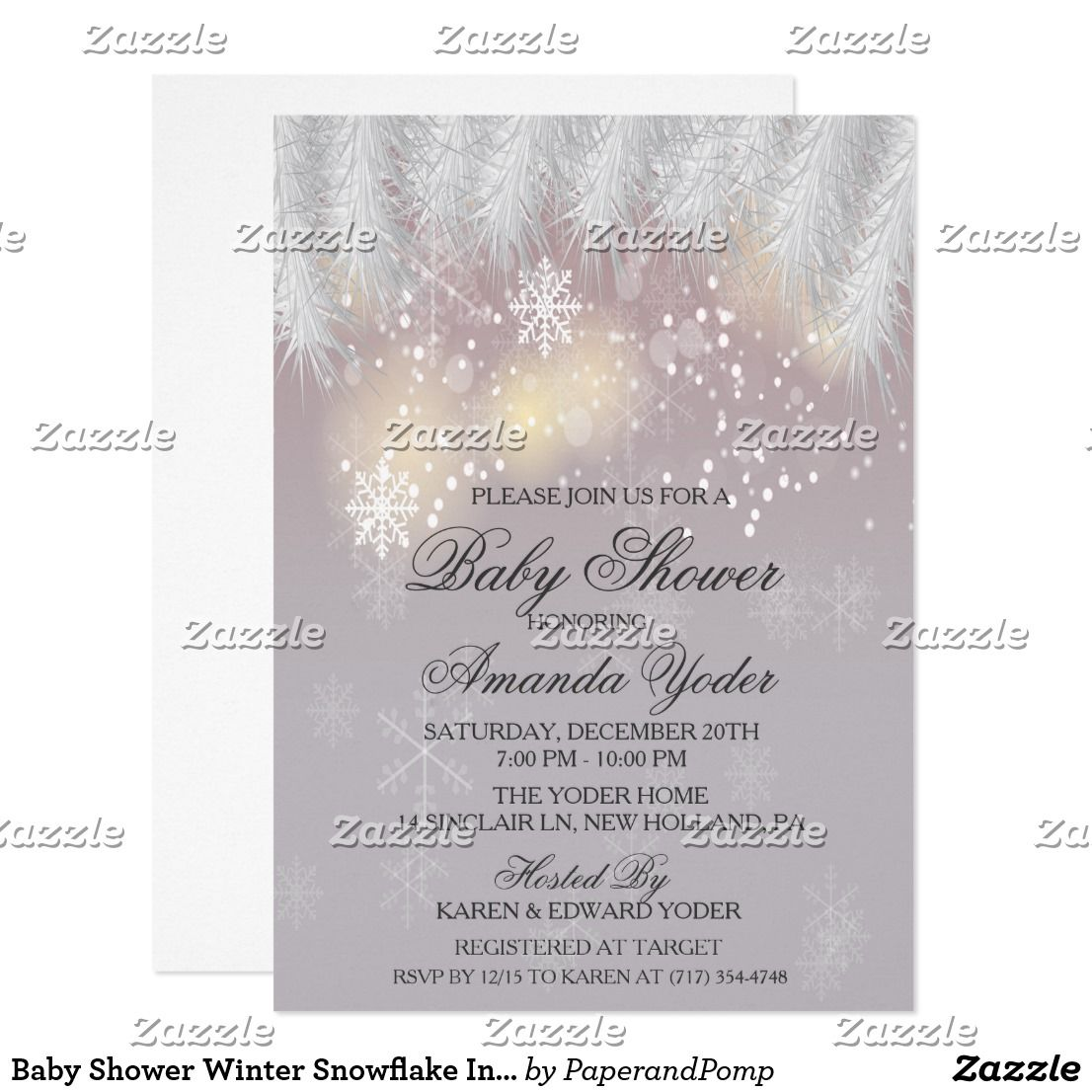 baby shower winter snowflake invitation in 2018 oh baby