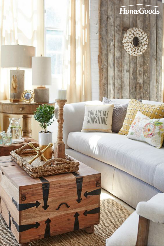 Modern Farmhouse Living Room Behind The Scenes At Homegoods Rustic Style Home Decor