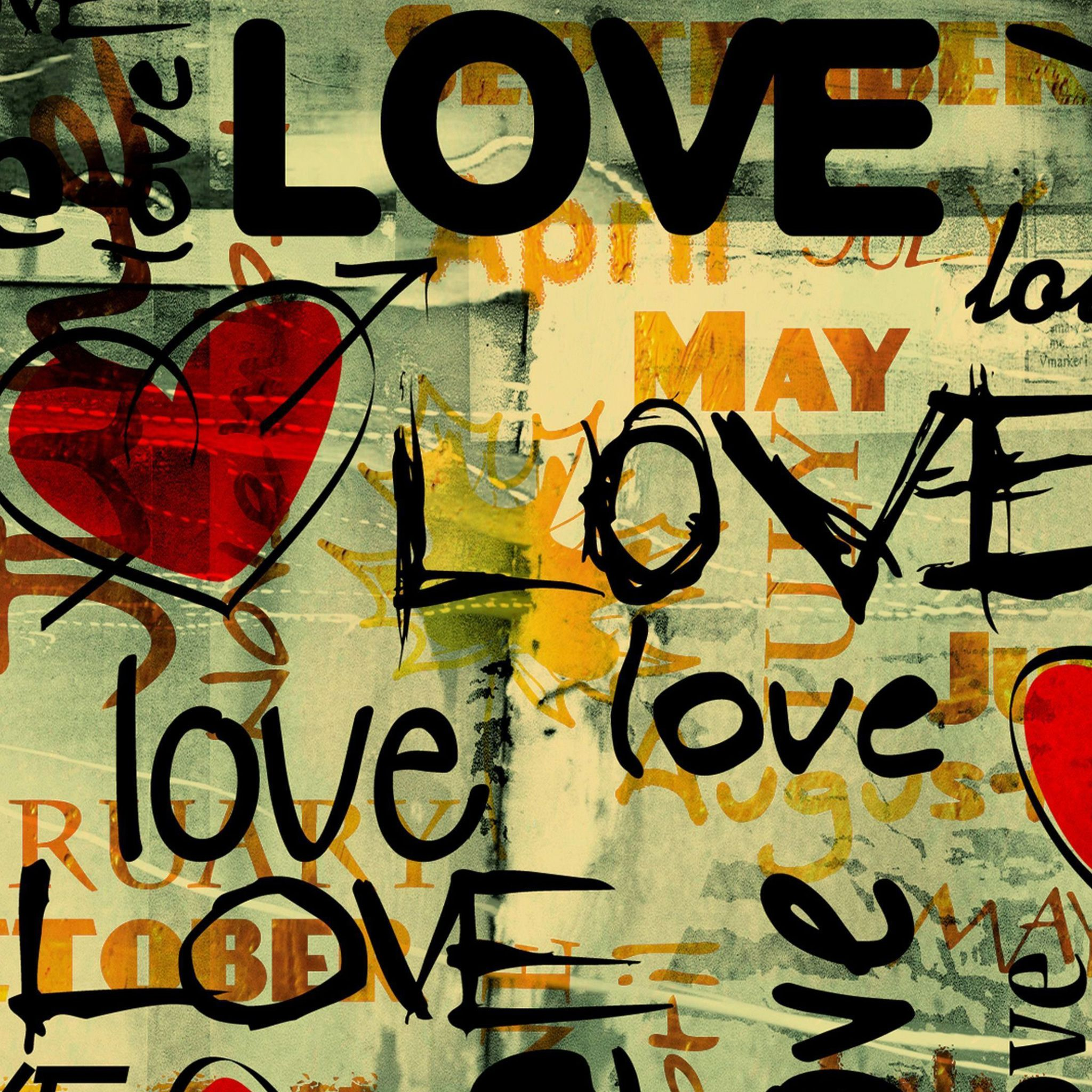 Love Written In Graffiti IPad Air Wallpaper Download