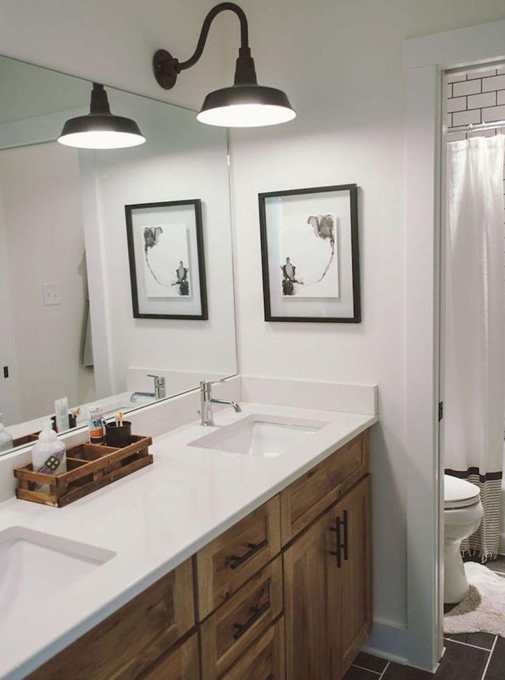 85+ Simple Farmhouse Bathroom Decor Ideas Bathroom