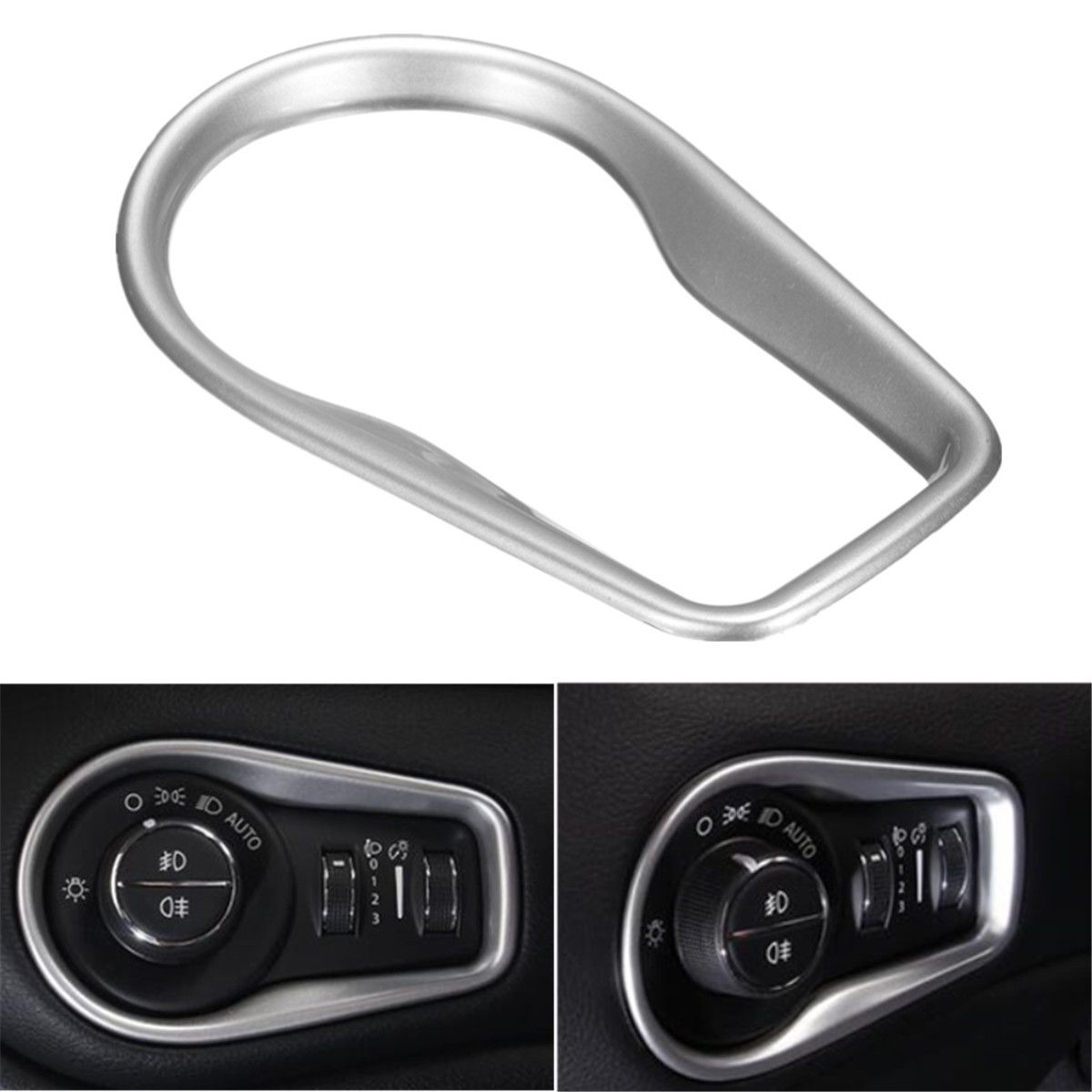 Headlight Switch Decorative Cover Trims For Jeep Renegade 16 ABS ...