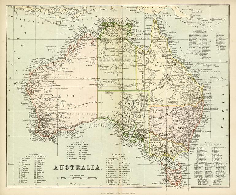 Map Of Australia 1880.Australia 1880 Map Illustrations Art Map Australia Map