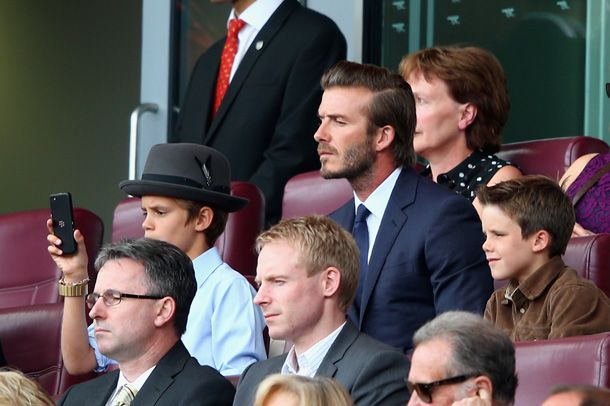Futbol y familia, así festejó David Beckham el cumpleaños de su hijo Romeo