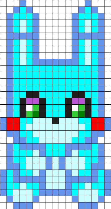 Toy Bonnie Plush Perler Bead Pattern Bead Sprite Crochet
