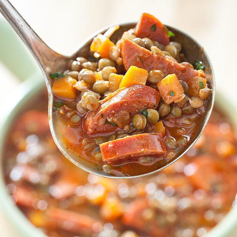 America S Test Kitchen Sausage Lentil Soup